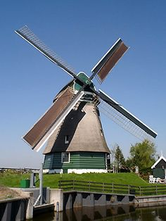 Polder mill Molen De Lage Hoek, Hoogwoud, the Netherlands.