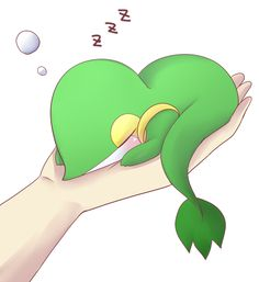 A very cute sleeping Snivy appeared! Used Pin to capture!