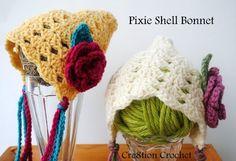 Pixie Shell Bonnet 0-3mo free crochet pattern