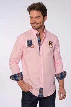 Valecuatro camisa rosa escudo