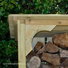 Melbury 4ft Log store corner detail