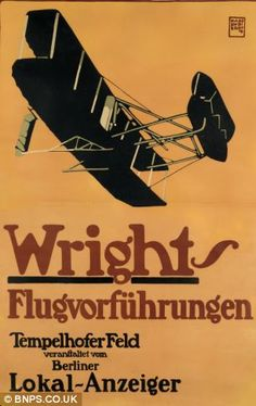 This £15,000 poster advertises the 1909 airshow at Templehof in Berlin
