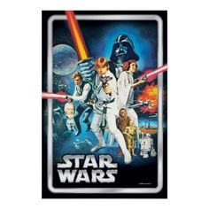 Star Wars and Zazzle join forces to bring you this collectible Episode IV: A New Hope Poster Print. Available in a variety of sizes and can be custom framed as well! 4x6 prints start at $9.00