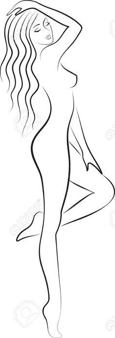 woman silhouette d Female Drawing, Female Art, Photo D Art, Woman Silhouette, Wire Art, Drawing People, Mandala Art, Pencil Art, Erotic Art