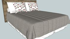 Large preview of 3D Model of Cama Montada