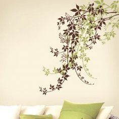 allover-stencil-walls-Large-wall-stencil-vine-stencil-wall-art