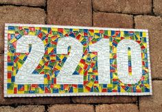 Address Sign, Mosaic House Number Plaque