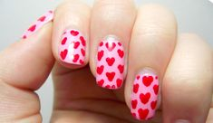 Pretty Heart Nail Art #HeartNail #nails #Prettynails