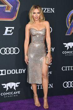 Scarlett wore Versace for the LA premiere of Avengers: Endgame.
