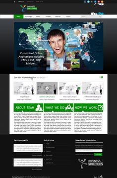 Free Premium PSD Business Webpage Template, vector graphics - 365PSD.com