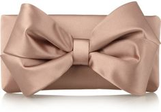 VALENTINO PARIS   Bow-embellished Satin Clutch