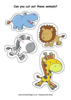 Sevearl really great cutting practice sheets for FREE! Showing: Cutting African Animals Free Preschool, Toddler Preschool, Preschool Activities, Preschool Kindergarten, Scissor Practice, Scissor Skills, Cutting Activities, Animal Activities, Jungle Animals