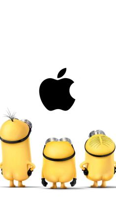 Fresh Simple Apple Wallpaper - Simple Apple Wallpaper Inspirational Apple & Minion Wallpaper Imágenes In 2019 Minion Wallpaper Iphone, Simpson Wallpaper Iphone, Apple Logo Wallpaper Iphone, Iphone Homescreen Wallpaper, Disney Phone Wallpaper, Iphone Background Wallpaper, Cute Minions Wallpaper, Animal Humor, Funny Animal