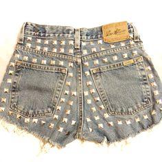 Full studded High Waisted Shorts