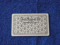 Playboy Club Casino Memorabilia 1970 s Blank Membership Card  New and Rare