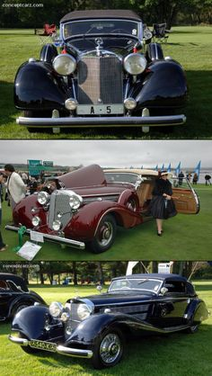 1939 Mercedes Benz 770 K Cabriolet B Conceptcarz; Bottom Photograph: 1937 Mercedes Benz 540 K at the Meadow Brook Concourse D'Elegance Retro Cars, Vintage Cars, Antique Cars, Vintage Auto, Mercedes 500, Mercedes Benz Cars, Motor Car, Luxury Cars, Cool Cars