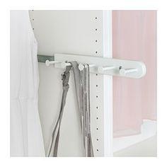 KOMPLEMENT Wysuwany wieszak wielofunkcyjny, biały - biały - 35 cm - IKEA