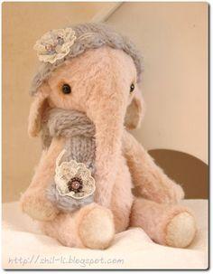Elephant Baby OOAK 6.6 inches by ShLida on Etsy