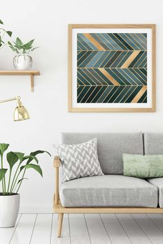 Play up the pops of green from plants in your art
