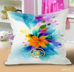 Chanel Abstract Flower Art Pillow Cases