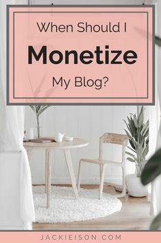 When Should I Monetize My Blog? - There is quite a bit of debate on the subject of when to start monetizing your blog. Some bloggers say that you shouldn't monetize for 6 months, while other recommend you should monetize from day one. I get why there's so much confusion. In this blog post, I will help you break down the debate so that you understand both sides of the argument and can make the decision that works best for your blog. #makemoneyblogging #monetization #blogging #hustle