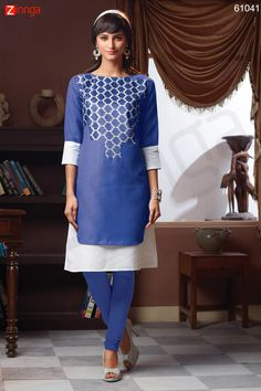 Incredible Straight Kurti Style with Resham & Lace Work. Message/call/WhatsApp at +91-9246261661