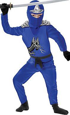 Toddler Boys Blue Ninja Avenger Costume Deluxe