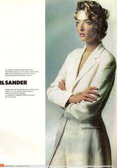 Model: Tatjana Patitz; photographer: Nick Knight; Jil Sander | Spring 1992