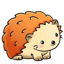 hedgee hog Cute Cartoon Drawings, Cute Cartoon Animals, Cute Animal Drawings, Kawaii Drawings, Cute Animal Pictures, Disney Drawings, Cute Baby Animals, Kawaii Illustration, Kawaii Doodles