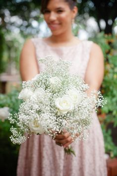 baby's breath bouquet | Marcella Treybig Photography | Glamour & Grace
