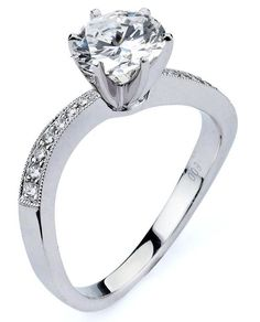 1.29 ctw Certified 14k White Gold G SI1 Round Brilliant Diamond Engagement Ring