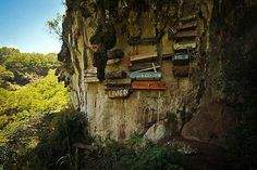 Hanging coffins in sagada, Philippines. How?