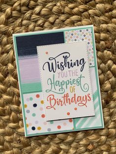 Vacation Countdown, Disney Countdown, Card Sketches, Happy Birthday Cards, Stamping Up, Stamps, Birthdays, Card Making, Paper Crafts