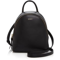 Dkny Mini Backpack (980 SAR) ❤ liked on Polyvore featuring bags, backpacks, black, strap backpack, mini crossbody bag, backpack shoulder bag, mini shoulder bag and mini crossbody