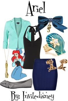 """Ariel"" by invitedisney ❤ liked on Polyvore"