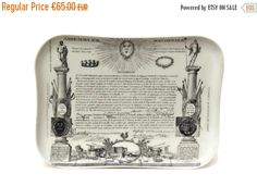 10% Off Limoges Porcelain Tray with French by LeBonheurDuJour