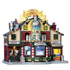 Lemax Christmas Village, Lemax Village, Christmas Villages, Farm Village, Village Houses, Sight & Sound, Milk Cans, Canterbury, Mini