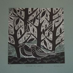 Image result for images of xmas lino prints