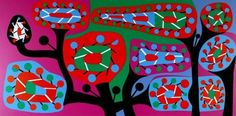 Alfred Pellan, Fleurs Gadget, sérigraphie
