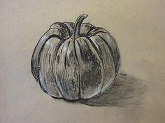 The Calvert Canvas: Adventures in Middle School Art!: Pumpkins in Charcoal