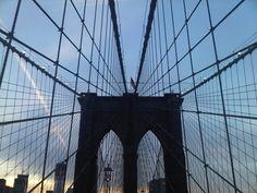 Brooklyn Bridge, New York City. Manhattan Bridge, Brooklyn Bridge, Oh The Places You'll Go, Great Places, Home Nyc, Famous Bridges, City That Never Sleeps, Concrete Jungle, Celebrities Exposed