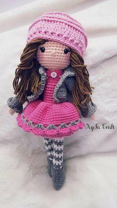 Crochet Doll / Andrea Doll / Handmade doll / Amigurumi doll / Stuff Doll Toys / Baby Shower / Handmade toy / NyTaCraft