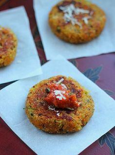 quinoa veggie cakes. perfect little snack.