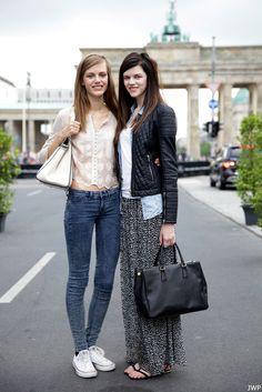 cute outfits. Nice bag.