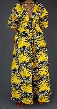 Yellow Ankara Maxi dress/ African clothing for women/African print dress/African maxi dress/ Women's summer dress Ankara Maxi robe jaune vêtements africain pour les femmes Ankara Maxi Dress, African Maxi Dresses, African Attire, African Wear, African Style, African Clothes, African Women, African American Fashion, African Print Fashion