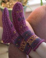 Caspian Sea Socks by Pricilla Gibson Roberts  - one of 7 Free Sock Knitting Patterns