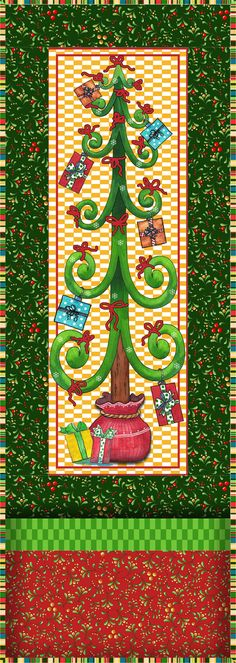 Fabric collection: Twelve Days of Christmas by Desiree Designs for @Mary Powers Levick Treasures   Get the free quilt pattern here: http://www.allpeoplequilt.com/techniques/piecing/creative-panel-quilts_ss26.html
