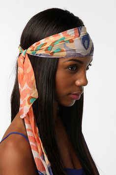Pastel head scarf. To learn how to grow your hair longer click here - http://blackhair.cc/1jSY2ux