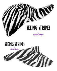 Seeing Stripes Bold Black & White Zebra Skin Print Sun Visor | Etsy Fashion Line, Sport Fashion, White Zebra, Black And White, Spotted Animals, Plus And Minus, Hook And Loop Tape, Florida Usa, Panama City