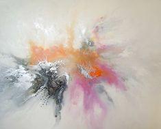 Ewaldi - Pink & Orange abstract - 1.5 x 1.2 m